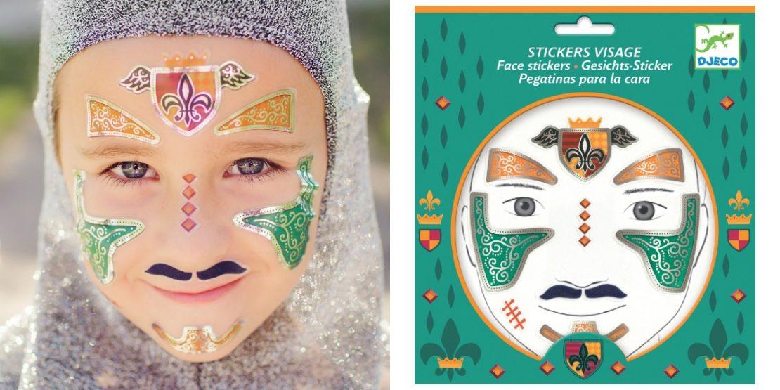 Djeco Face Stickers - Knight