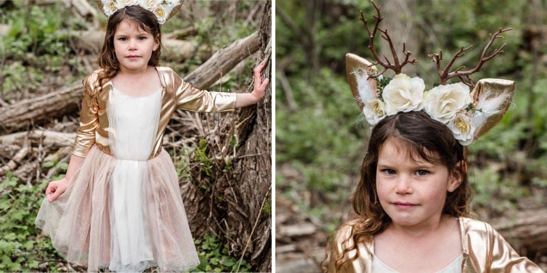 Woodland Deer Dress with Headpiece