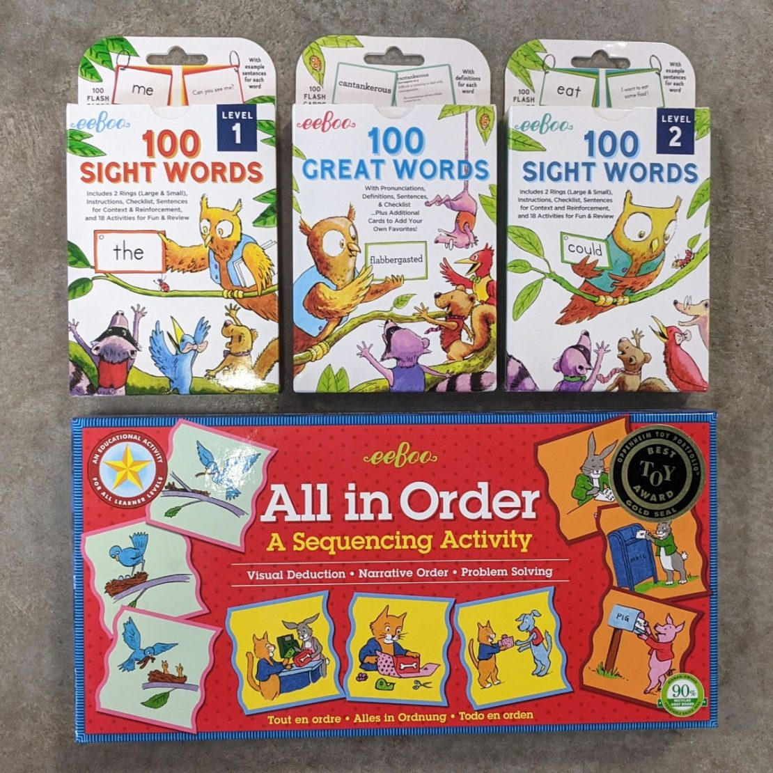 Site Word Flash Cards & Sequencing Game