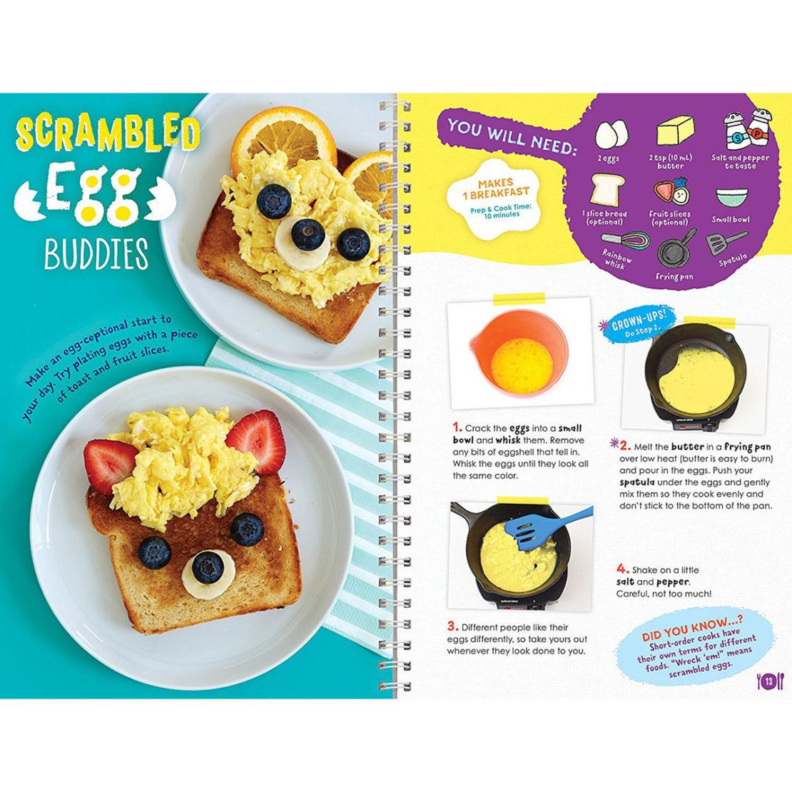 Klutz Kids Cooking Scrambled Eggs Recipe