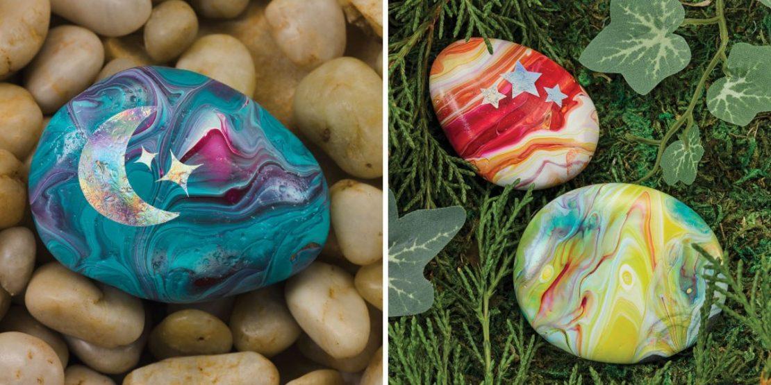 Hide & Seek Rock Kits Paint Pour