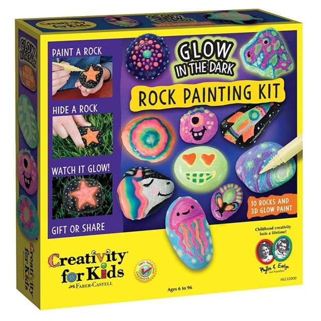 Glow in the Dark Rock Painting