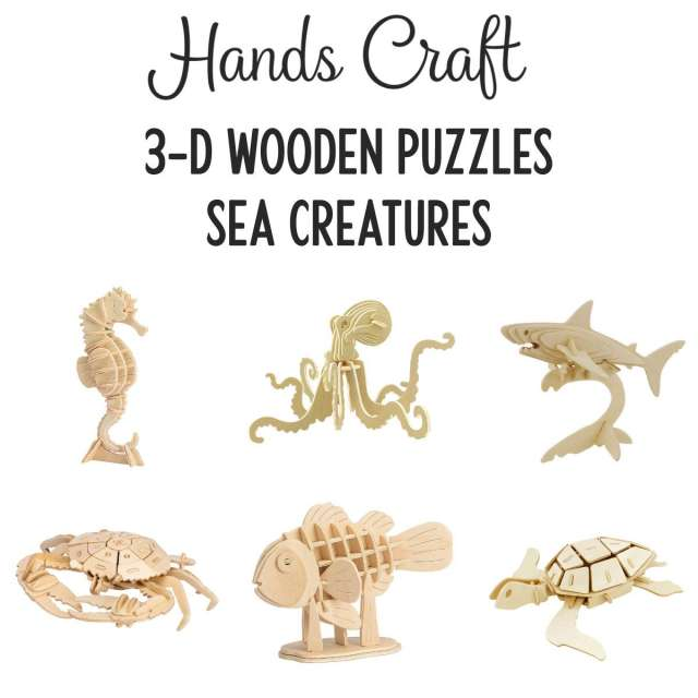 Sea Creatures 3-D Puzzles