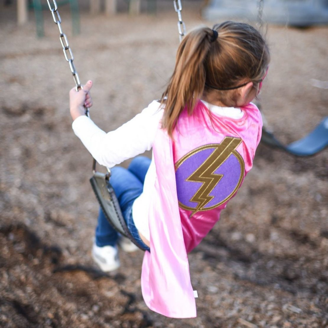 Little Adventures Hero Cape and Mask Set in Pink