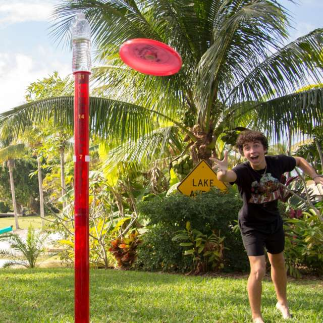 Lighted Poles Disc Game