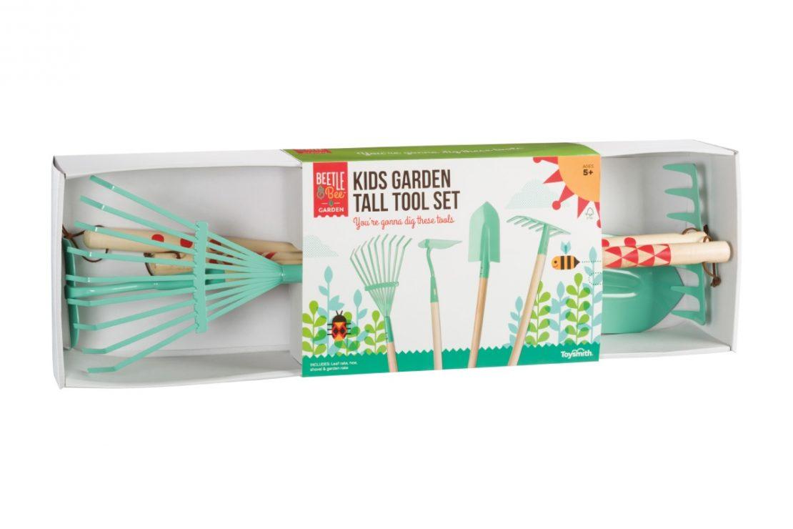 Beetle & Bee Kid's Garden Tall Tool Set
