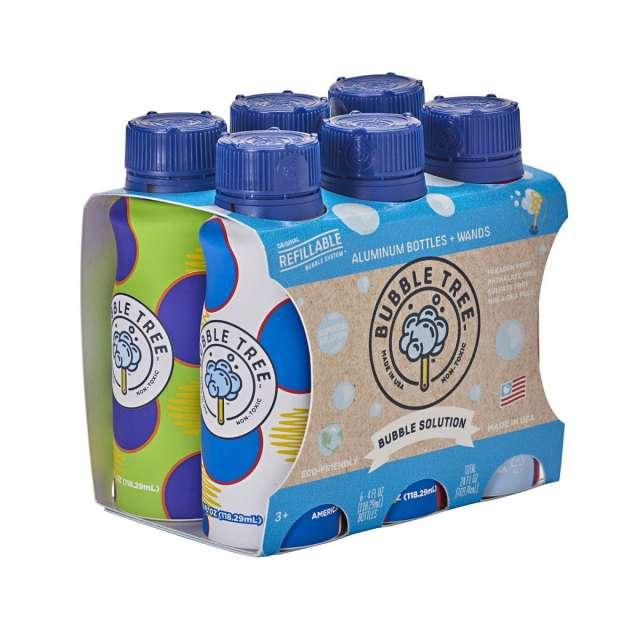 Aluminum Bubble Bottle 6-pack