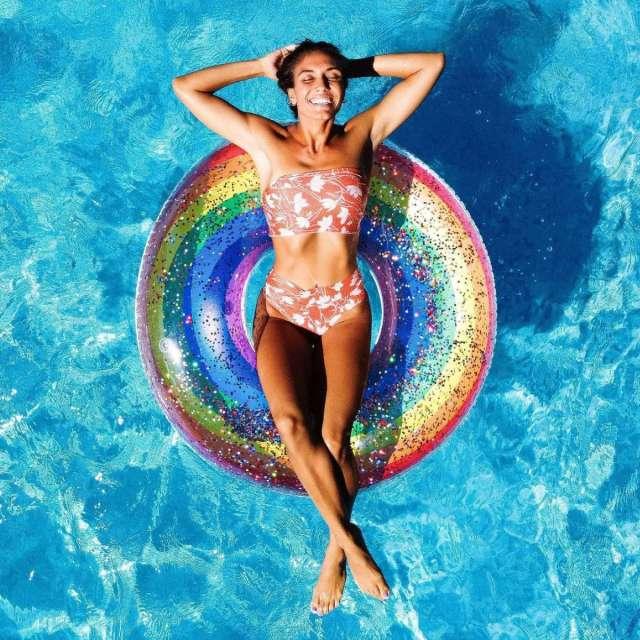 Rainbow Glitter Pool Tube