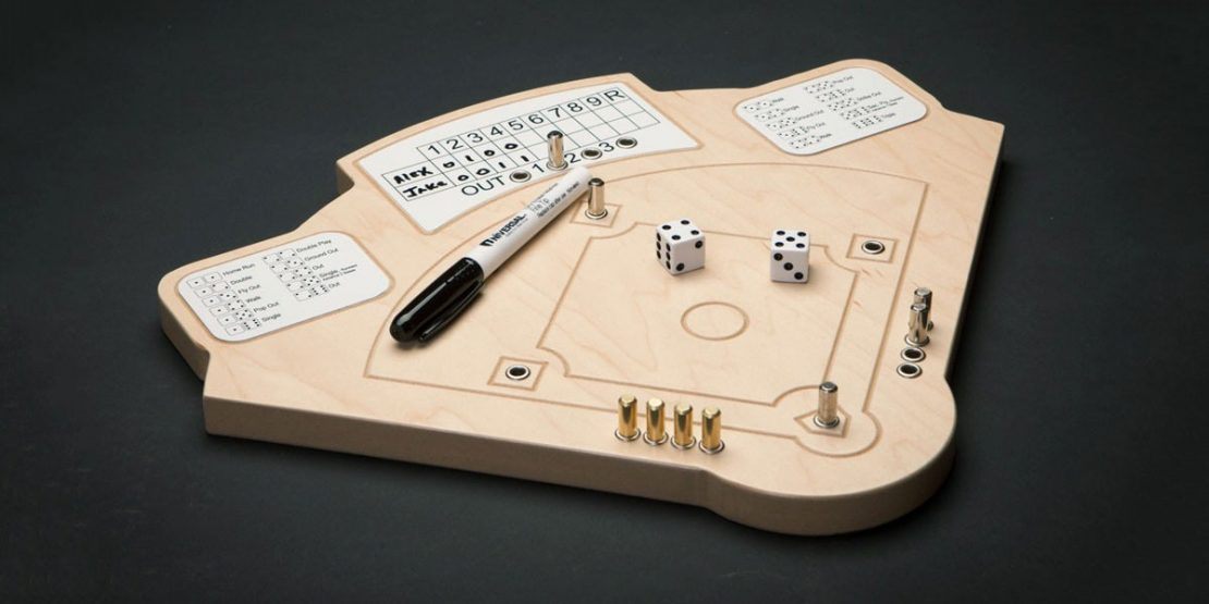 Wooden Baseball Dice Game