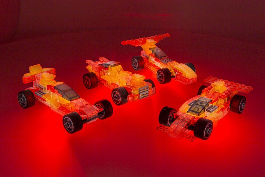 Laser Pegs Race Cars