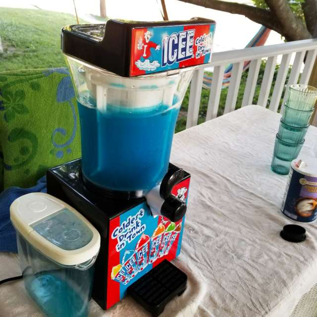Icee Slushes on the porch!
