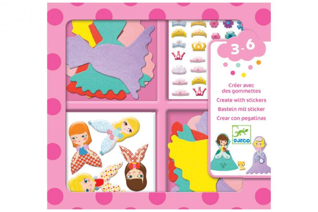 Djeco Create with Stickers I Love Princesses