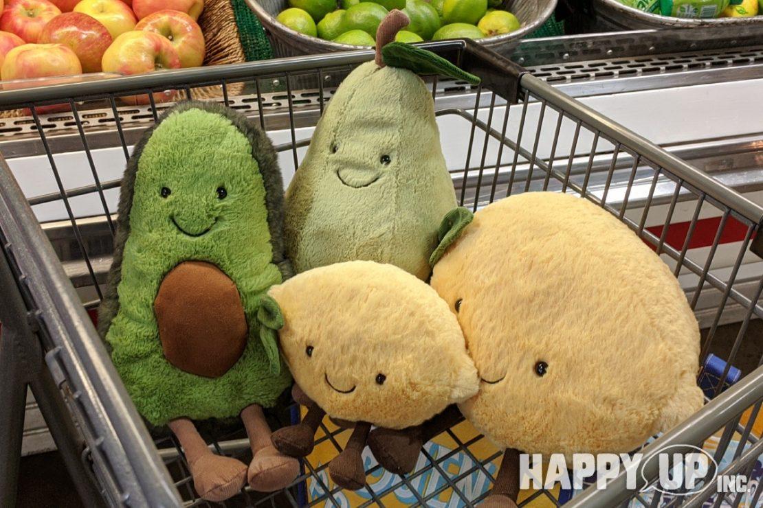 Jellycat Amuseables: Avocado, Lemon, and Pear
