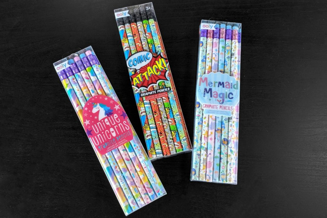 Ooly Decorated Pencils: Unique Unicorns, Comic Attack, and Mermaid Magic