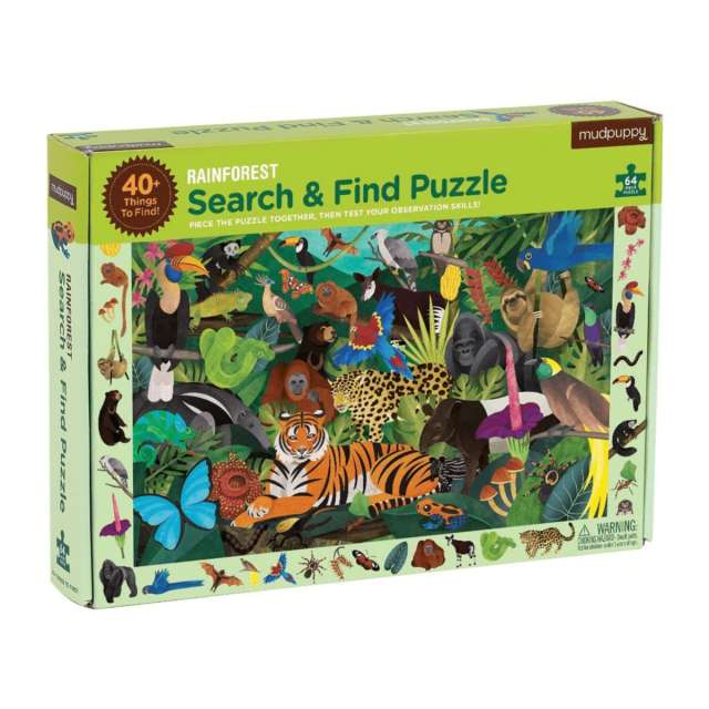 Search & Find Rainforest Puzzle