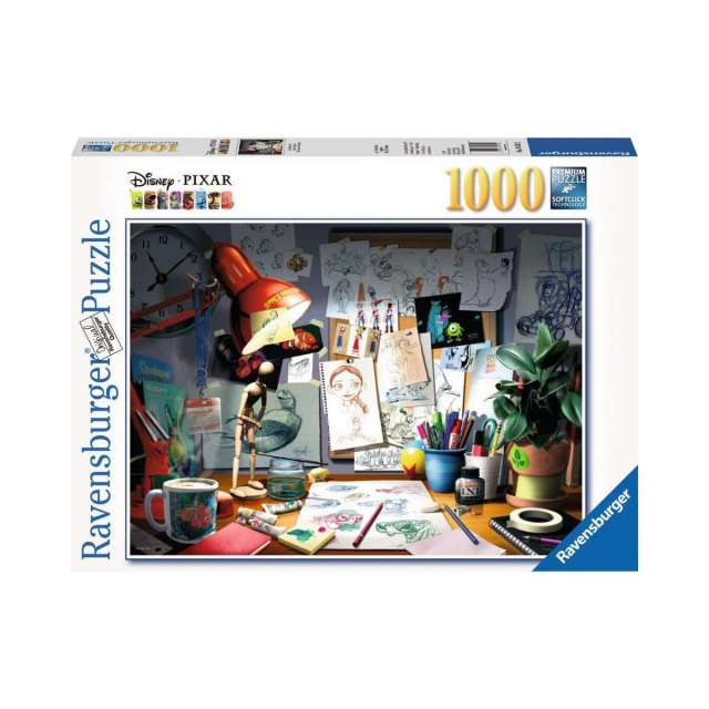 The Artist's Desk - Disney Pixar Jigsaw Puzzle
