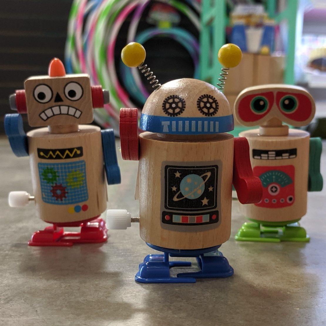 Wooden Robot Dance Party Wind-Ups