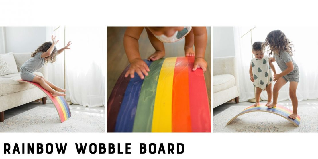 Bunny Hopkins Rainbow Wobble Board