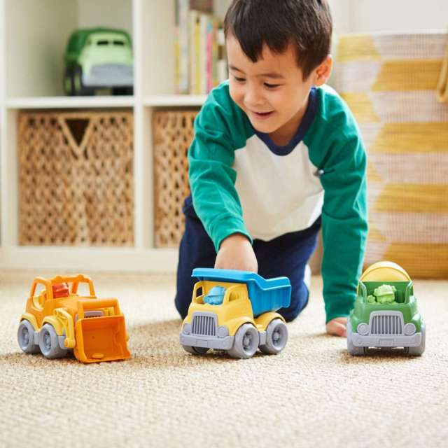Green Toys Construction Trucks with Drivers