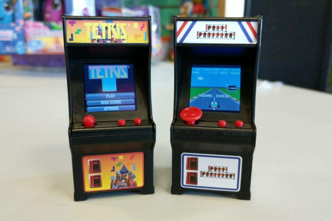 Tiny Arcade Tetris & Pole Position Keychains