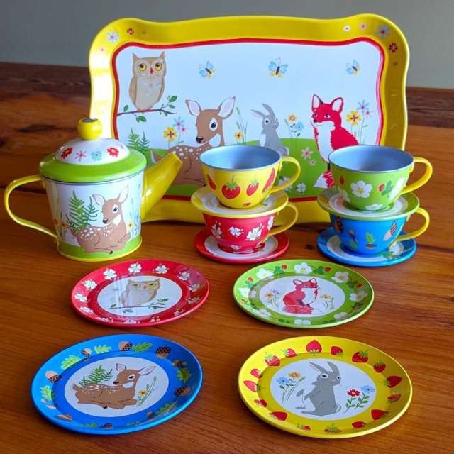 Forest Friends Tin Tea Set from Schylling