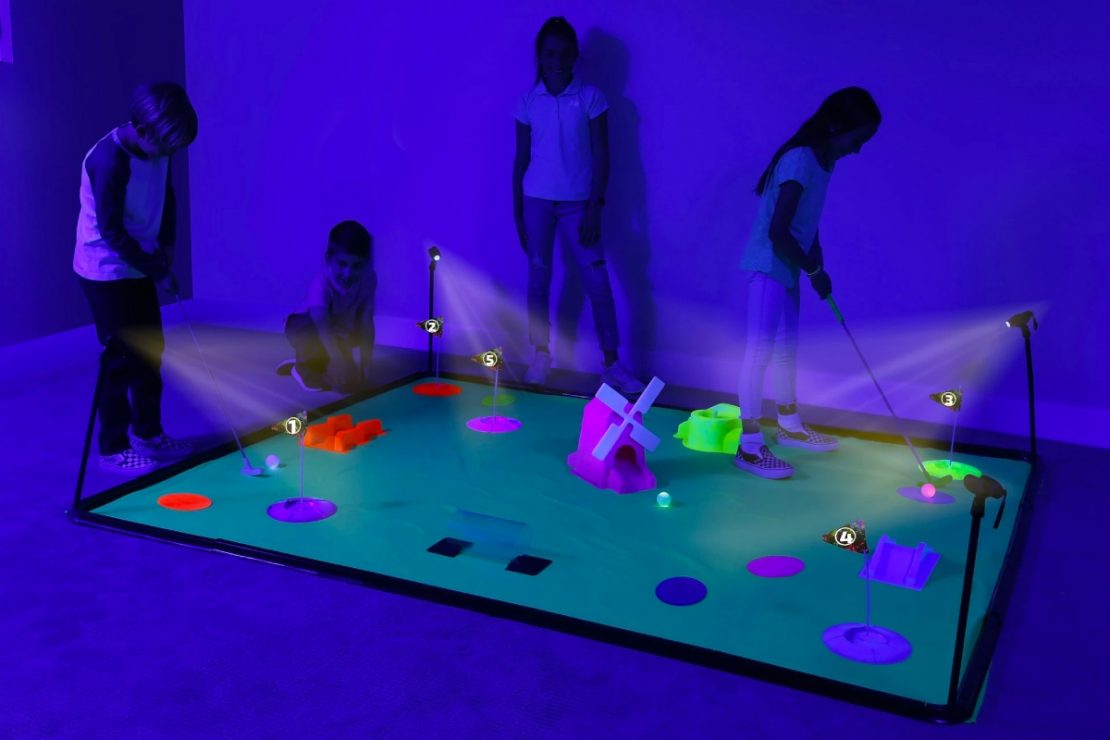 Deluxe Cosmic Glow Mini Golf from B4Adventure