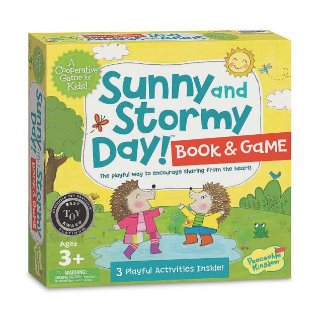 Sunny & Stormy Day Book & Game from Peaceable Kingdom