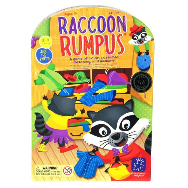 Racoon Rumpus Color Matching Game
