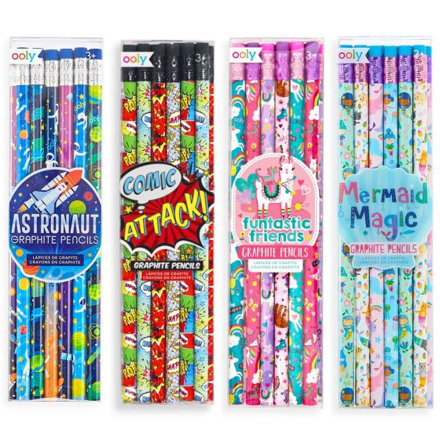 Decorated Pencil 12 Packs from Ooly