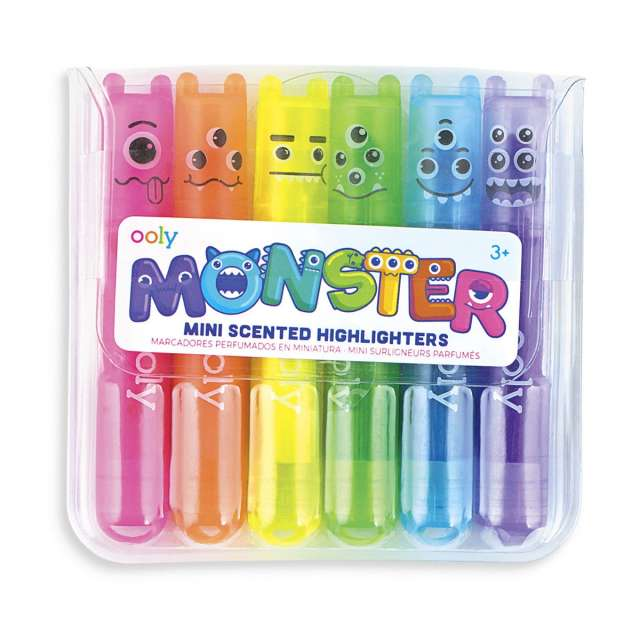 Monster Mini Scented Highlighters from Ooly