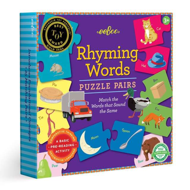 Rhyming Words Puzzle Pairs from eeBoo