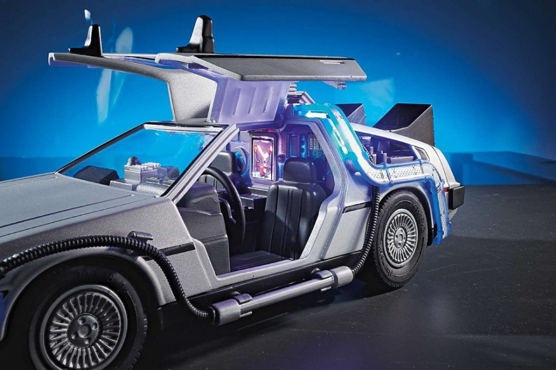 Back to the Future 1985 DeLorean Playmobil Set
