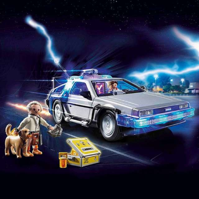 Back to the Future DeLorean Playmobil Set