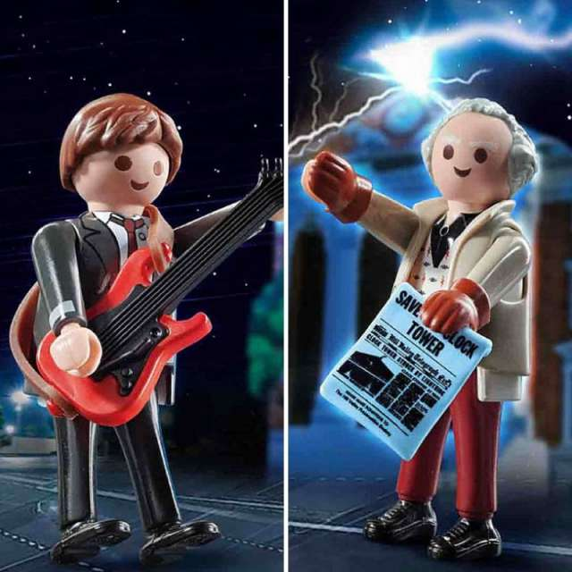 Back to the Future 1955 Marty McFly & Doc Brown Playmobil Figure 2-pack