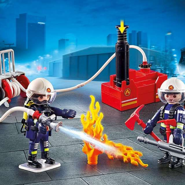 Firefighters with Water Pump Playmobil Set