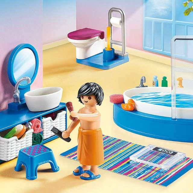 Bathroom with Tub Playmobil Dollhouse Set