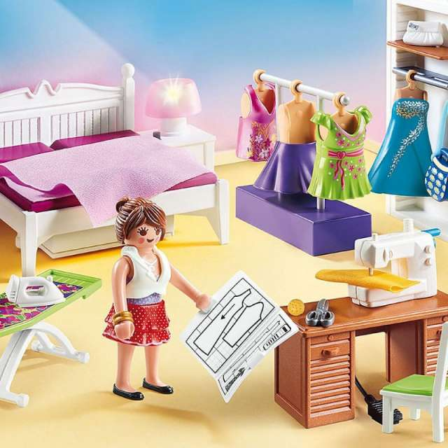 Bedroom with Sewing Center Playmobil Dollhouse Set