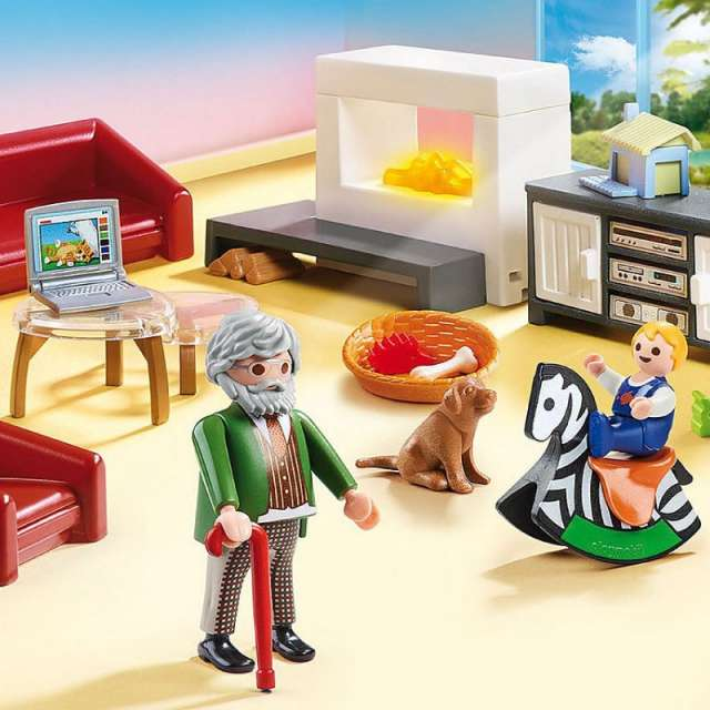 Comfortable Living Room Playmobil Dollhouse Set
