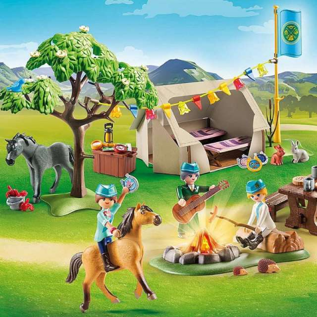 Summer Campground Spirit Riding Free Playmobil Set