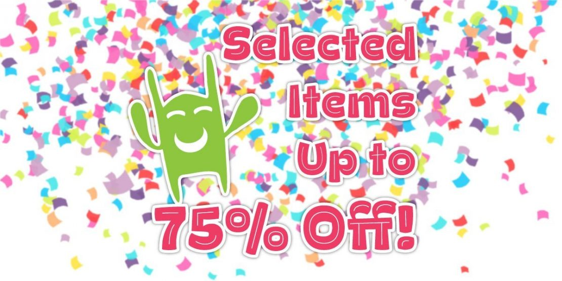 Selected Items Up To 75% Off!