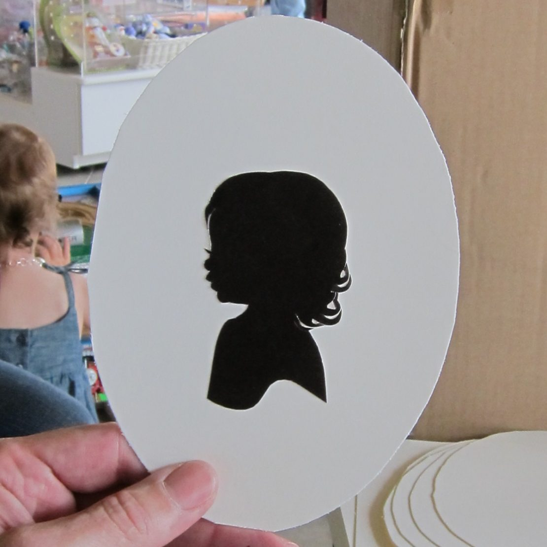 Completed silhouette cut by Erik Johnson