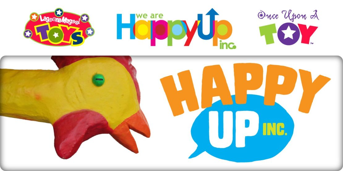 Chicky with new Happy Up logo