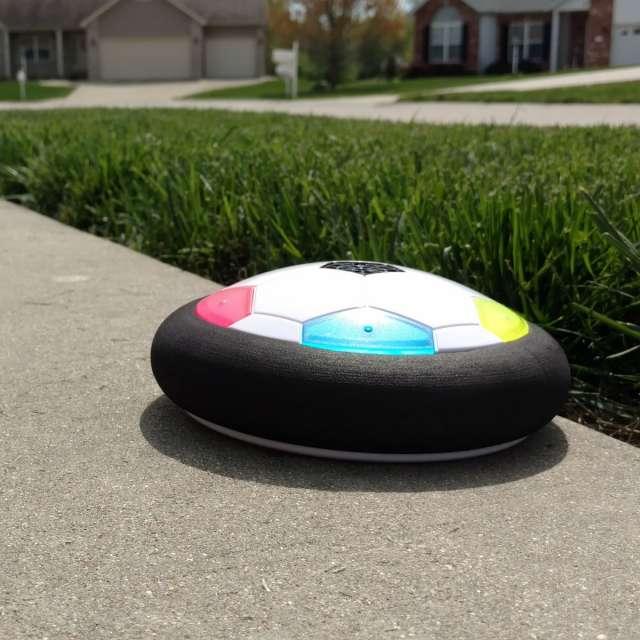 Ultra-Glow Air Powered Soccer Disc