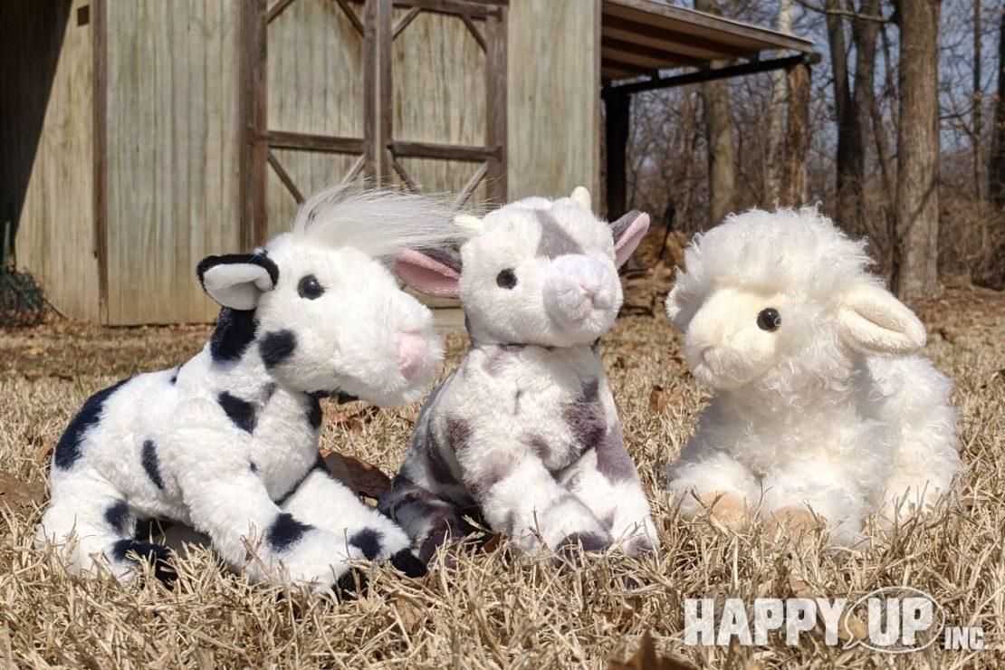 Douglas Floppy Farm Animals - Calf, Kid, and Lamb