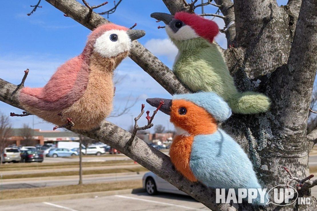Jellycat Birdlings Wren, Kingfisher, and Woodpecker