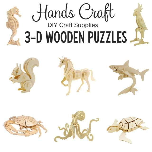 Hands Craft 3d Wooden Puzzles