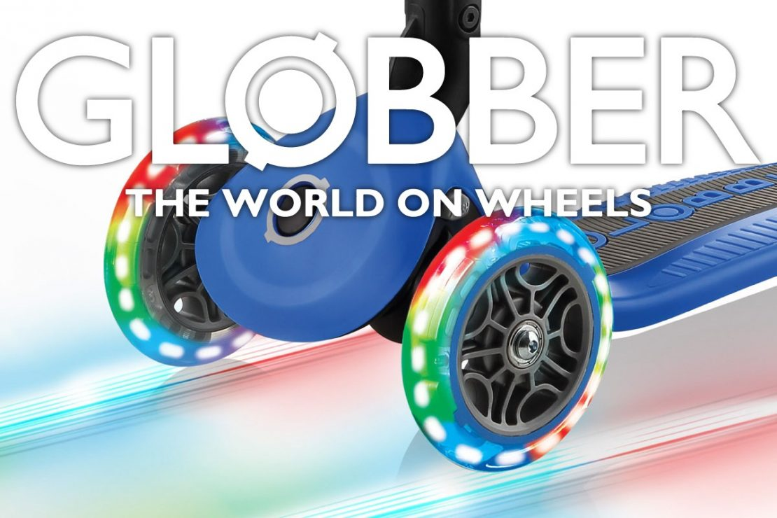 Globber Scooters with light-up wheels!
