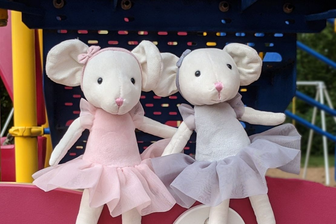 Pirouette Candy Mouse & Pebble Mouse from Jellycat