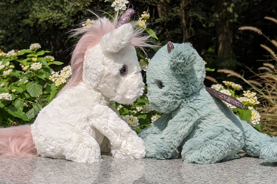 Starry Eyed Unicorn and Dragon from Jellycat