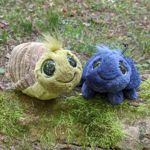 Frizzle Snail and Beetle from Jellycat